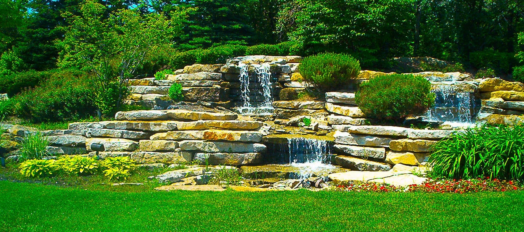 landscape pond water fall