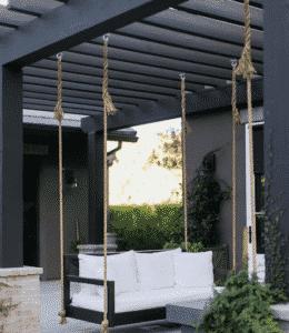 Modern Bench Swing Pergola