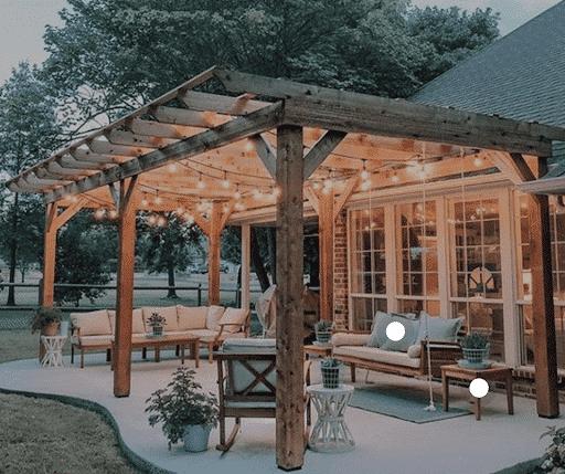 Outdoor Living Room Pergola
